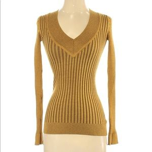Grane Sz S Pullover Ribbed Knit Sweater V Neck